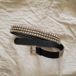 Studded Black Belt